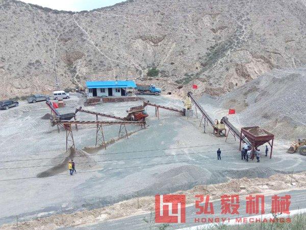 河卵石制砂机场地